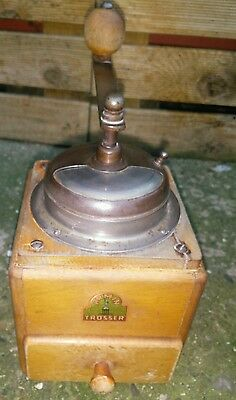 Armin Trosser Coffee Mill Grinder Wood Vintage Retro Shabby Chic Crank Operated