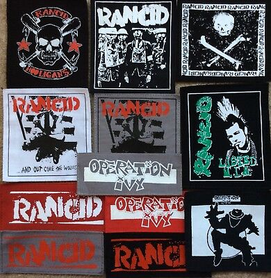 RANCID OPERATION IVY patches  punk rock n roll skinhead