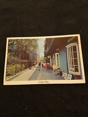 Pirates Alley New Orleans Louisiana - Old Postcard with 1965 Postmark