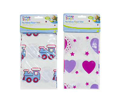 Baby Feeding No Mess Floor Mat Wipe Clean Toddler Highchair Splash Protect Cover