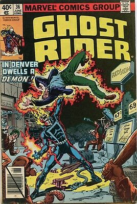 Ghost Rider #36 VG+ 1979 Marvel Comic Book
