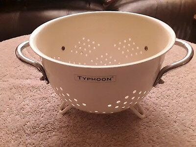 VINTAGE COLLANDER ENAMELLED TYPHOON RETRO kitchenalia