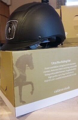 **NEW** Caldene Ultra Plus Riding Hat 7 1/8 or 58 withwith diamante crystals