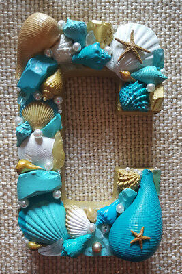 Seashell Letter C Beach Decor Wedding Gift Coastal Mermaid Treasure