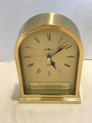 Howard Miller Quartz Clock Br And Gl For Desk Shelf Mantle An