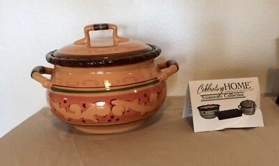 Celebrating Home, Tuscan Home pattern,Stoneware Collection, Bean Pot. NIB