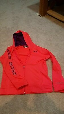 Girls Under Armour Storm Full Zip Hoodie Sweatshirt Jacket Youth LARGE YLG MINT