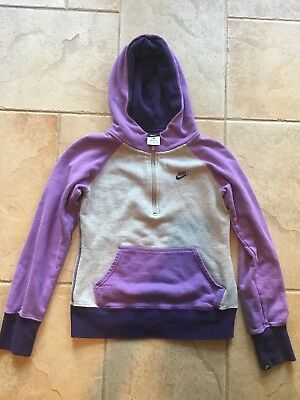 Nike Kids Girls Purple Quarter Zip Jacket Size Large