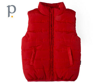 Baby Puffa Vest - Deep Red