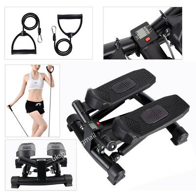 Mini Stepper Legs Arms Fitness Exercise Gym Aerobic Workout Machine + Arm Cord