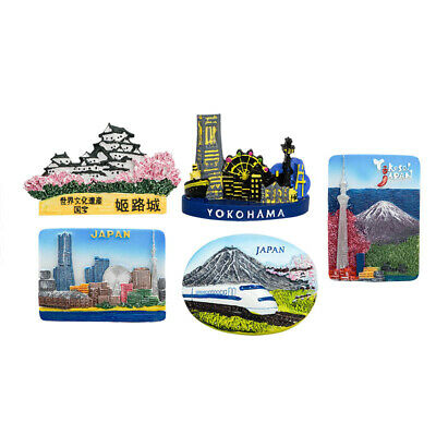 3D Resin Fridge Magnet Tourist Travel Souvenir Memorabilia, Japan