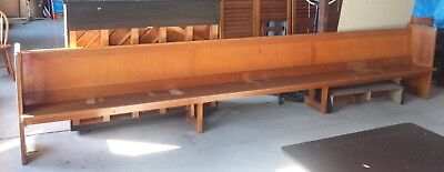 Vintage Church Pew Bench Seat Solid Timber