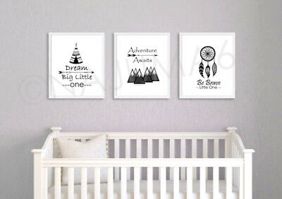 Nursery Wall Art Prints Childrens 8x10 Poster Print - Scandinavian Nordic Decor