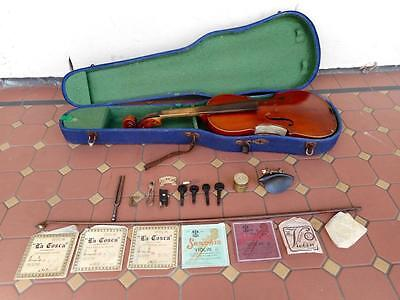 c.1907 Antique Masakichi Suzuki Violin w/ All Original Accessories Strings Etc.
