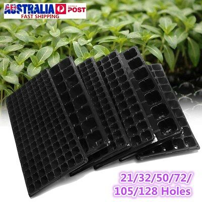 10X Seedling Tray Starter Germination Plant Propagation 21/32/50/72/105/128 Cell