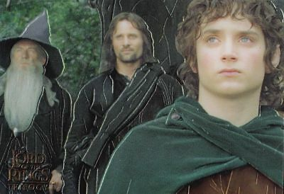 """2004 LORD of the RINGS """"CHROME"""" TOPPS PROMO TRADING CARD [P1] - V/GOOD COND"""