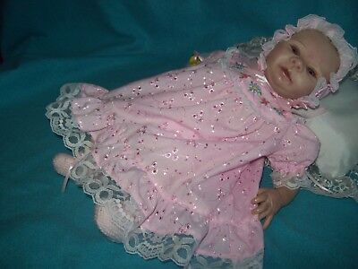 Broderie Anglaise Dress Set 15-16 Inches For Reborn