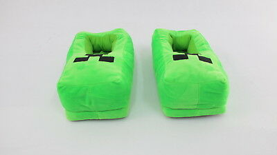 Minecraft Comfortable Plush Winter Slippers Full Cover - Green