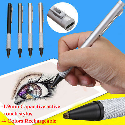 Capacitive Active Touch Screen Stylus Drawing Pen Rechargeable For Tablet iPad