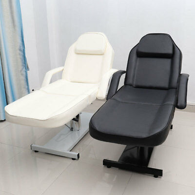 Hydraulic Leather Massage Bed Beauty Tattoo Padded Couch Adjustable Reclining UK