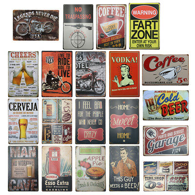 Retro Shabby Chic Metal Tin Sign Plaque Wall Art Poster Home Cafe Poster Decor