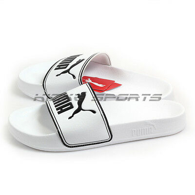 f7820ccb31f PUMA LEADCAT WHITE-BLACK Sportstyle Logo Sandals Slippers Unisex 2018  360263 08