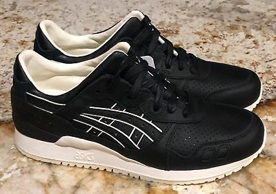 ASICS GEL LYTE III Black Leather Lifestyle Casual Shoes