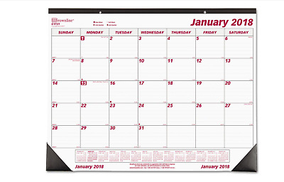 2018 Desk Pad Calendar Monthly, Brownline Chipboard Large Office Planner 22 x 17