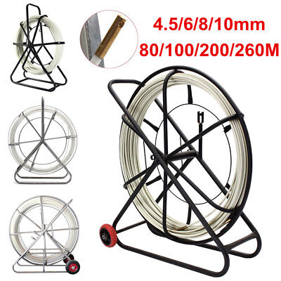 4.5/6/8/10mm Fiberglass Wire Cable Fish Tape Running Rod Duct Rodder Puller Tool