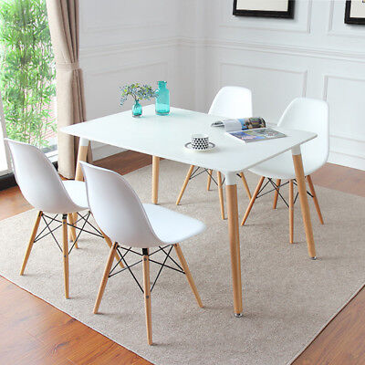 4-seater Dining Table Furniture Scandinavian Retro Modern Side Home Office Table