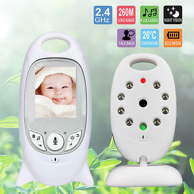 UK 2 inch Baby Monitor Color Wireless Digital Video LCD 2 Way Talk Night Vision