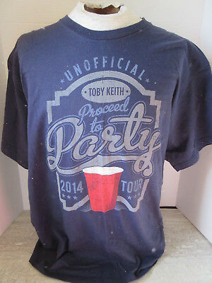 2014 Toby Keith Shut Up & Hold On Tour T-Shirt Navy Blue Size XL