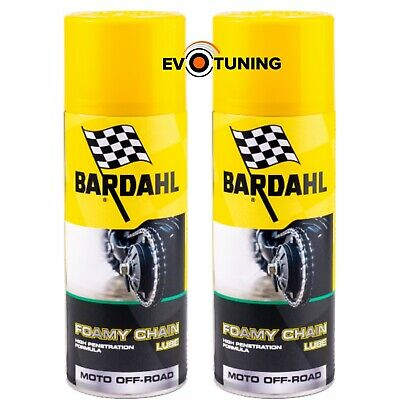 Bardahl Foamy Chain Lube Grasso Catena Moto Cross 2 x 400ml