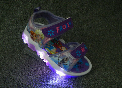 e0c89477fd SANDALI LED SCARPE bambina luci FROZEN ANNA E ELSA led kids shoes lights  bimba