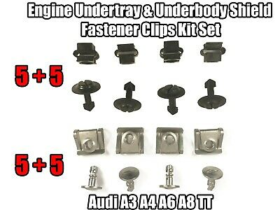 Clips For Audi A3 A4 A6 A8 TT Engine Undertray Underbody Panel Set Kit Fastener