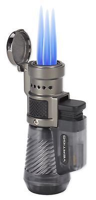 New Vertigo Cyclone Triple Jet Lighter in Clear Grey / Charcoal