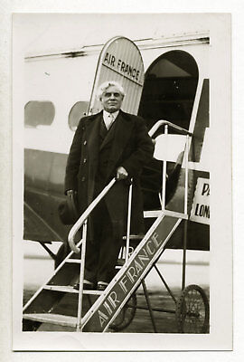 Joseph Paul-Boncour, homme politique SFIO, Wibault Air France - Photo c. 1935