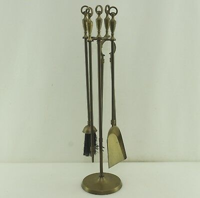 Vintage! Altes Kaminbesteck Kamingarnitur Messing 5-teilig  Fire Irons Brass