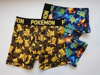 Pokemon Go Pikachu Squirtle Charmander Game 2 Pack Boys Kids Youth Boxer Briefs
