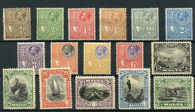 Malta 1926-27 short set to 5s SG157/71 MM - see desc