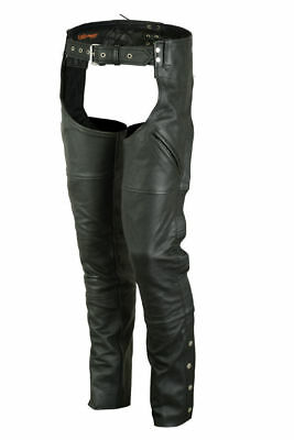 Unisex Deep Pocket Thermal Lined Motorcycle Chaps Daniel Smart DS488