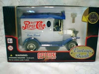 Pepsi Delivery Truck Bank New in the Box Blue