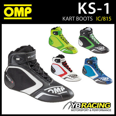 Ic/815 Omp Ks-1 Ks1 Kart Karting Race Boots - New Updated Design & Colours!