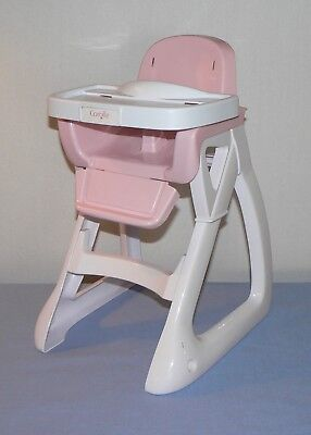 Corolle baby doll pink white plastic high chair Mon Premier Nursery My First
