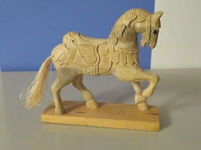 Hand Carved Wooden Carousel Horse ready for painting