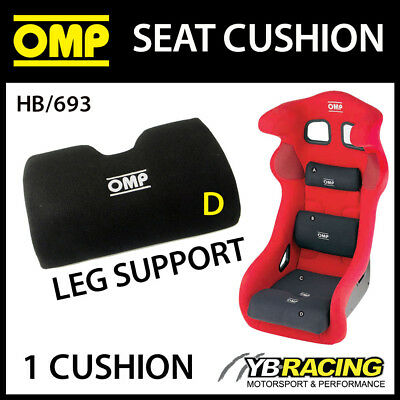 Hb/693 Omp Racing Bucket Seat Leg Support Foam Cushion Removable Velcro Fit