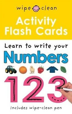 New, Wipe Clean Activity Flash Cards 123, Roger Priddy, Book