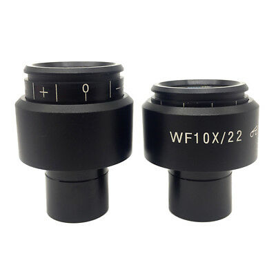WF10X/22 Eyepiece for Biological Microscope High Eye-point Diopter Adjustable