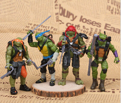 Lot TMNT Teenage Mutant Ninja Turtles 4PCS Action Figures Anime Movie Xmas Gift