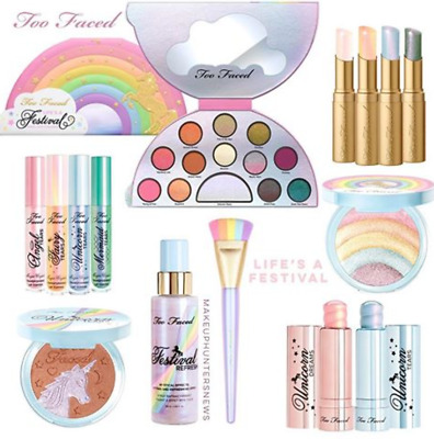 New! Life's A Festival Unicorn Rainbow Too Faced Collection-Pick 1 Nib 100% Real